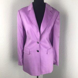 Escada Purple Rabbit Wool Super Soft Jacket Blazer